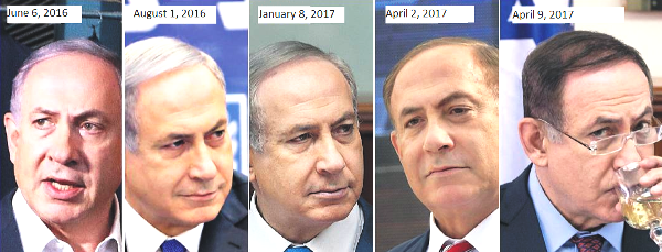 From gray to silver to brown...what color will Netanyahu sport next?