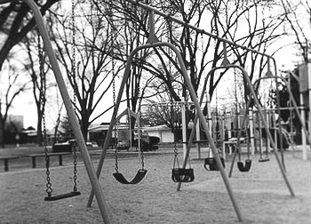 Empty playgrounds like this one in Europe are gradually being filled by the children of Muslim migrants.