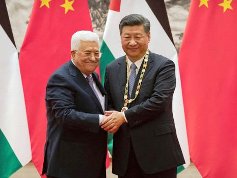 The most absurd picture of yesterday: PLO Chairman Mahmoud Abbas with Chinese President Xi Jinping in Beijing.