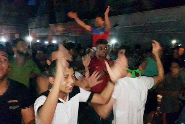 Joy in Gaza when news of the murders was broadcast.