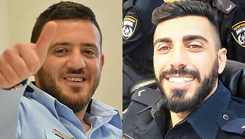 Thousands of mourners attended the funerals of Staff Sgt. Maj. Ha'il Satawi, 30 of Maghar (on right),, and Staff Sgt. Maj. Kamil Shnaan, 22, of Hurfeish (on left).