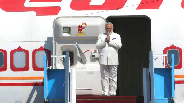 Modi lands in Israel (picture: Reuters).