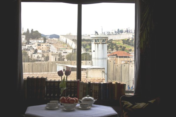 How about a cup of tea and bowl of fruit while sitting in your room watching Palestinians attacking Israeli soldiers?