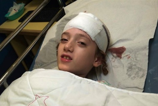 Shmuel David in the hospital yesterday, a day after the attack (picture: Arutz Sheva).