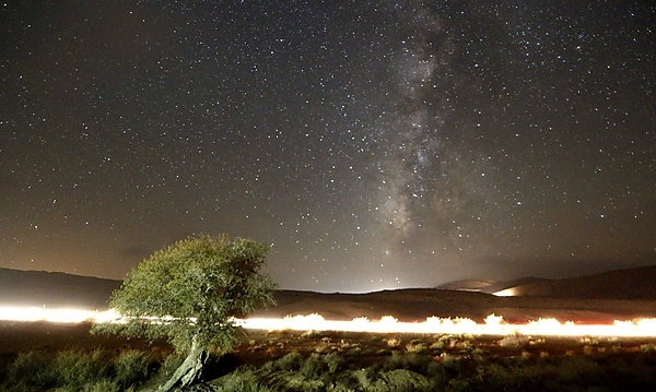 The night sky over Mitzpe (photo: EPA).