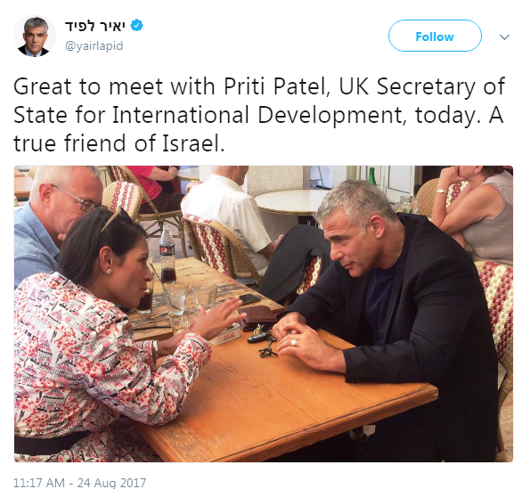 "Note the caption...""A true friend of Israel."""