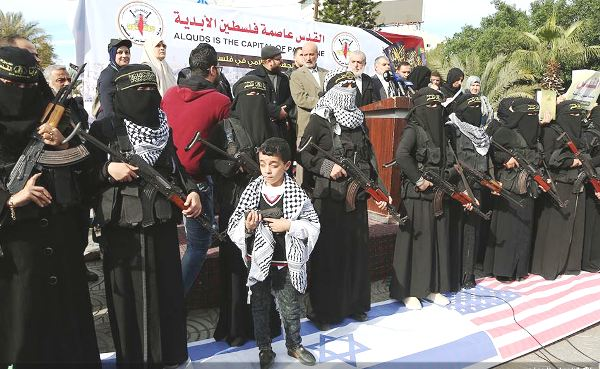 While their husbands are busy building tunnels into Israel and shooting rockets at Israel, the women need an activity . . .