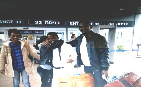 Two illegals (the two with the suitcases) at Ben Gurion this morning headed for Rwanda.