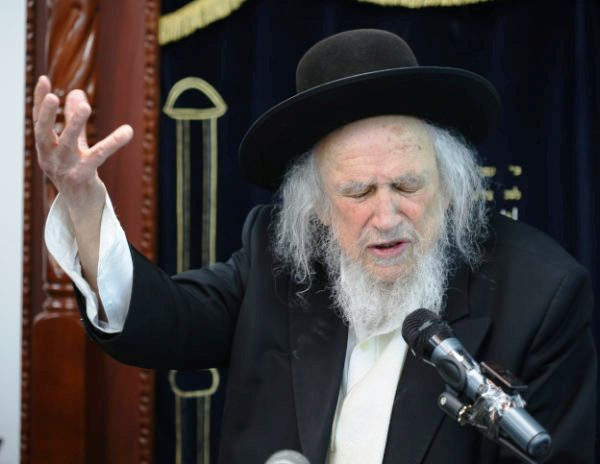 The famous (or infamous--depending on your perspective) ultra-orthodox leader Shmuel Auerbach.