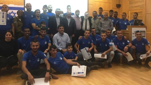 22 graduates from pre-IDF preparatory program for Bedouins in the northern Negev.