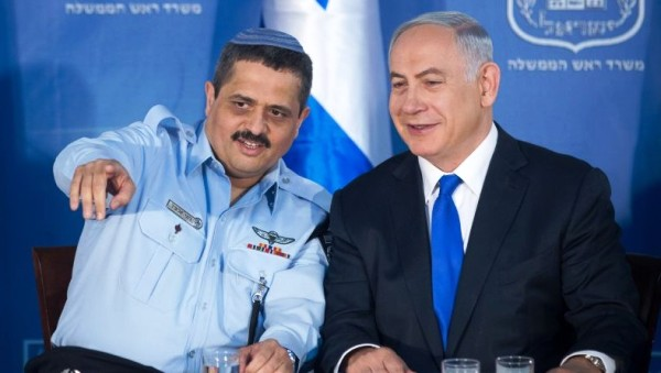 Roni Alsheich and Benjamin Netanyahu in happier times (picture: Times of Israel).