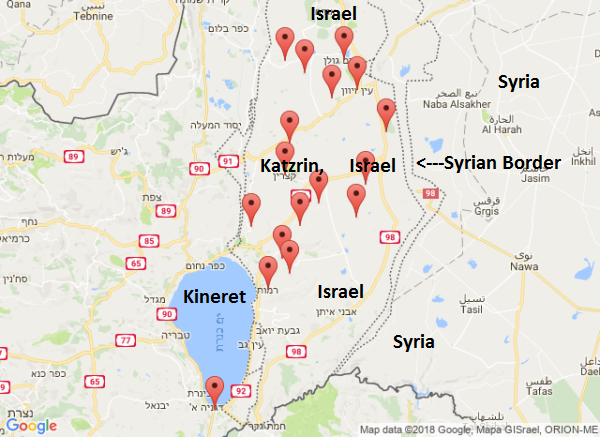 Note that the entire Golan was affected.