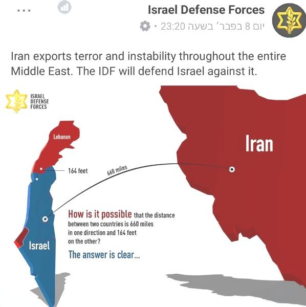 An easy answer: Lebanon is Iran.