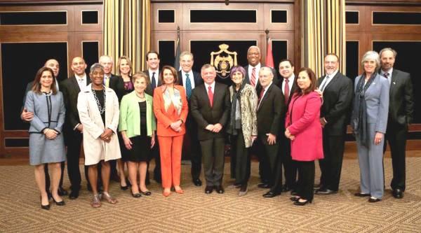 U.S. Minority Speaker Nancy Pelosi and her Democrat minions in Amman today with