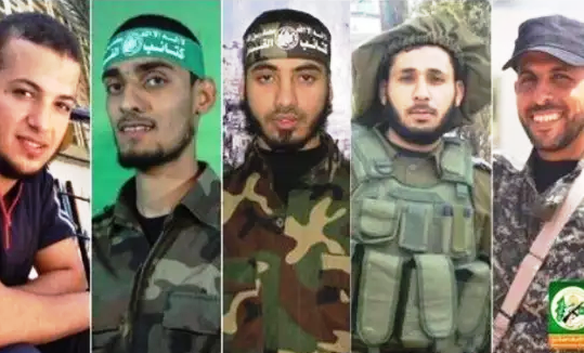 These are members of Hamas' military wing that Hamas says were killed yesterday.