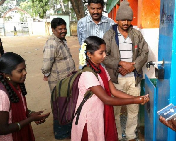 Water from air and soap combine to fight disease.