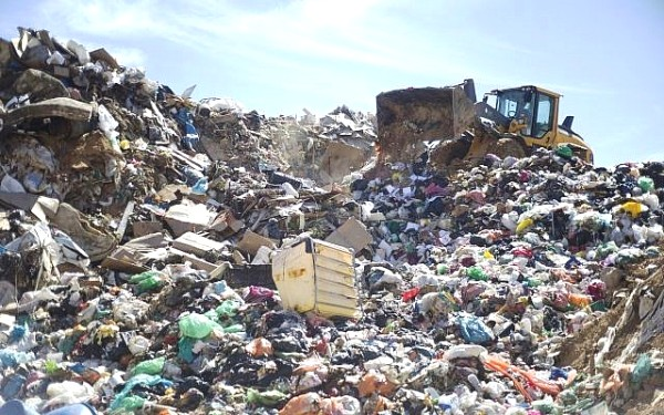 The landfill beside the UBQ facility in the Negev.